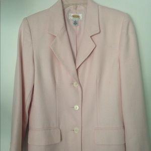 Talbots Petites 4 Silk Pink Blazer Jacket